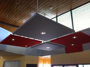 panneau acoustique tissu mural plafond. Black Bedroom Furniture Sets. Home Design Ideas