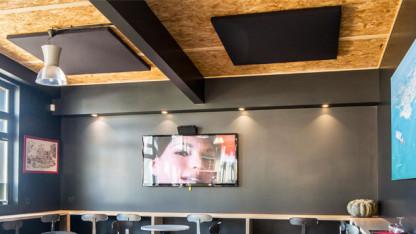 traitement acoustique isolation phonique salle de sport equipement sportif gymnase piscine. Black Bedroom Furniture Sets. Home Design Ideas