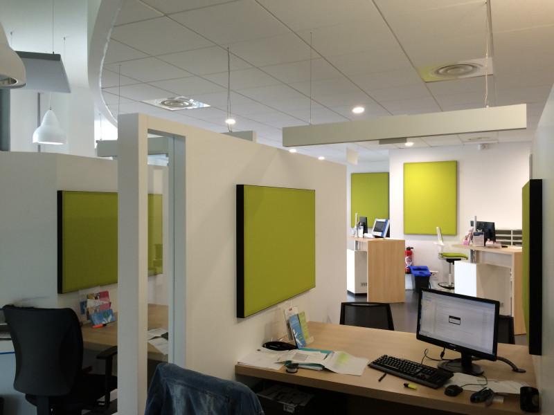 Isolation phonique traitement acoustique bureau open space